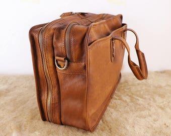 Leather laptop bag | Etsy