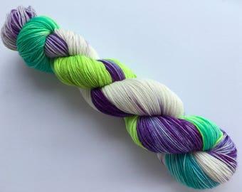 OOAK Hand Dyed Superwash Merino/ Nylon Sock Yarn