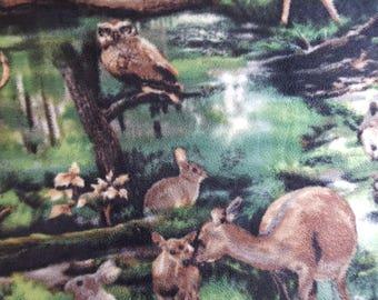 Wild Animals Fleece Fabric (27 inches)