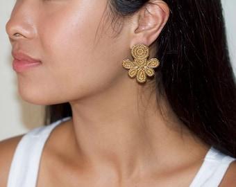 Beaded Post earrings