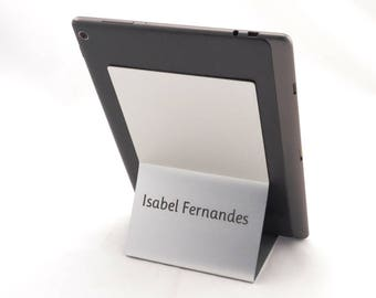 tablet stand, iPad stand,  custom stand, iPad station, tech gift, office gifts, ipad gift, desk holder, aluminium stand, engraved holder