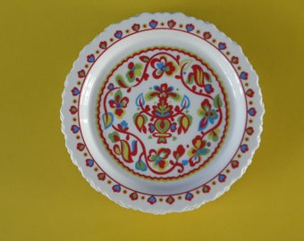 Vintage Sango One World Basque Small Plate - Set of 4 - Japan - 1970s
