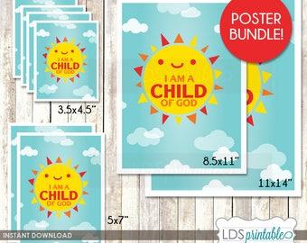 I am a Child of God 2018 Primary Theme Print Bundle