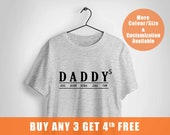 personalised fathers day gift, Daddy T Shirt With kids Names ,Custom dad T Shirt, father's day gift, fathers day,,