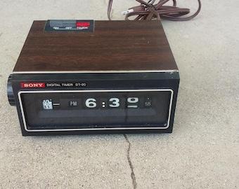 Vintage Sony Clock DT-20 timer
