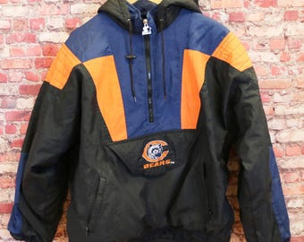 Vtg 1990s Chicago Bears Starter Authentic Pro Line Jacket Men's XL NFL Pullover