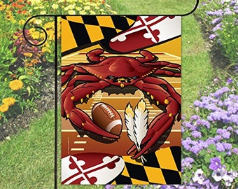 Maryland Flag Washington Crab Football Garden Flag