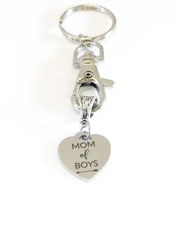 Mom of Boys Keychain, Gift For Boys Mom, Gift For Mom of Boys, Gift For Mom, Boys Mom Gift, Mom Christmas Gift, Mom Stocking Stuffer