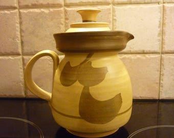 Vintage  Moville Pottery Coffee Pot Stoneware Coffee pot, Medium Size Coffee pot Made in Moville, Donegal Ireland