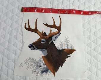 White Tailed Deer fabric piece - Applique