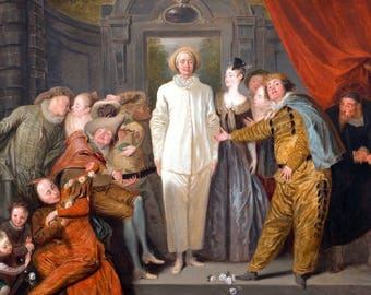 """Laminated placemat Watteau """"The Italian comedians"""""""
