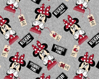 Disney's Minnie Mouse Cotton Lycra Knit fabric