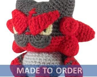 MADE TO ORDER Incineroar Amigurumi Crochet Plush