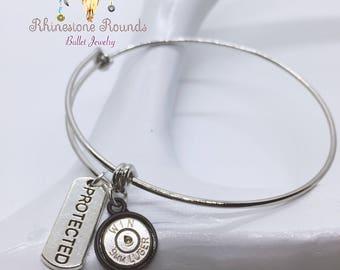 Bullet Casing/Protected Stackable Bangle Bracelet