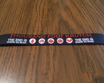 """MIP-""""Thousand Foot Krutch"""" Rubber Wristband one size fits most"""