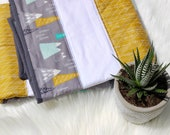 READY TO SHIP - Little Bravery Quilt in Wilderness and mint green