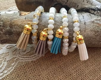 Boho Chic Beaded Tassel Bracelet