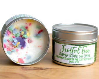 Frosted Tree Natural Soy Wax Candle