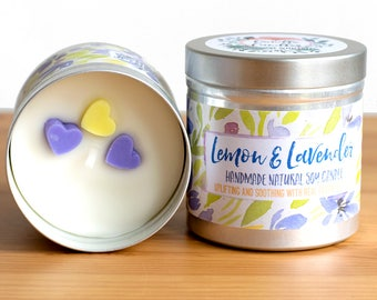Lemon and Lavender Soy Wax Candle