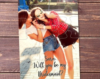 Bridesmaid Gift for Her Will you be my Bridesmaid puzzle photo Bridesmaid Gift Ideas Bridesmaid Invite Wedding Invitation for Bridesmaid