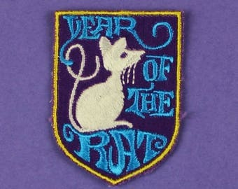 Year of the Rat Chinese Zodiac Vintage 1970s NOS Patch