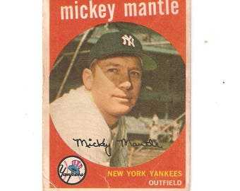 1959 Topps Mickey Mantle Good