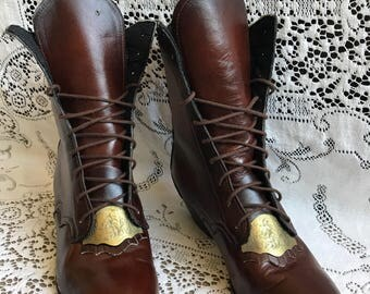 Victorian Lace-Up Boots