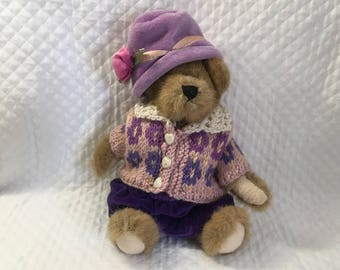 Boyd's Bears and Friends, Bailey and Friends, Lavender Hat and Outfit, 1992-96