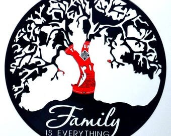 Family is Everything Tree - Vinyl Record Art