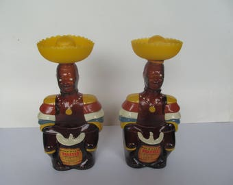 Limbo Drummer Decanters  -  set of 2   Decanters