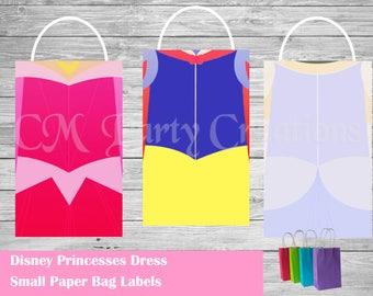 Disney Princesses Paper Goodie Bag Labels