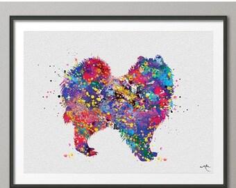 Pomeranian Art, Pomeranian Watercolor Print, Pomeranian Print, Wall Decor, Dog Art, Custom Dog Art, Personalized Gift Wall Hanging [NO 752]