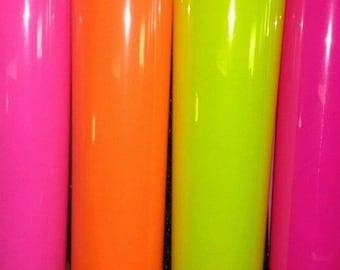 Siser Fluorescent Neon Heat Transfer Vinyl Bundle Packs, Iron On Vinyl, Craft Vinyl, HTV Vinyl, Vinyl, Vinyl Sheets, Bundle, T Shirt Vinyl