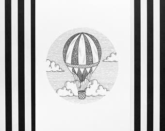 Balloon Illustration Print