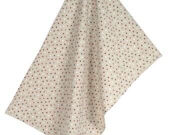 """50x70cm fabric """"Confetis"""" red tea towel"""