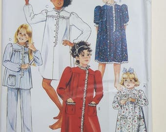McCall's Nightwear Pattern Child's 4-14  #2192