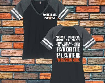 Volleyball Mom Shirt Volleyball Shirt Volleyball Gifts Sports Mom Volleyball Mom Tee Favorite Player Custom Volleyball Personalized DM476