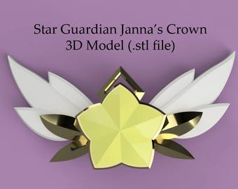 Star Guardian Janna - 3D CROWN Model