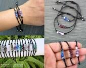 Chip stone dainty bar bracelet, minimal stacking wristband, gemstone cuff, chakra bracelet, zodiac unisex jewelry, crystal jewellery