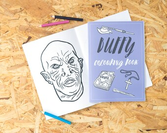 Buffy Colouring Book, adult colouring book, colouring pages, vampire slayer, coloring book, halloween