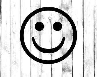 Happy, Smiling Face - Car/Truck/Home/Laptop/Computer/Phone Decal