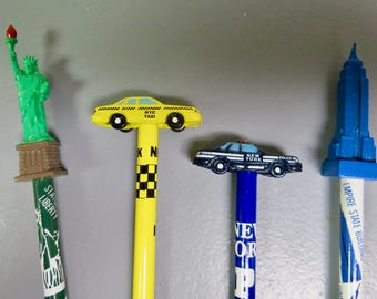 NYC pencil toppers
