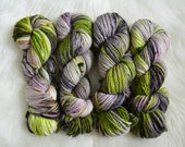 Wicked, On Aran/Worsted Superwash Extrafine Merino Wool Yarn, 181 Yards, 100 gm Hank, Hand Dyed Yarn