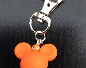 Mickey head Keychain Orange