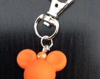 Mickey head Keychain Orange