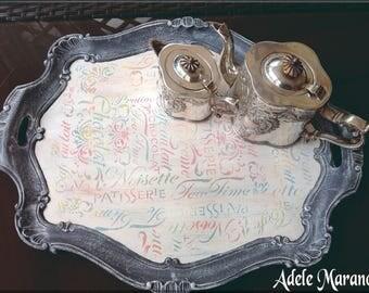 groe dekorative schale holz tablett mit griffen frhstck im bett franzsisch stil - Fantastisch Heimwerken Entzuckend Schlafzimmer Set Weiss Idee