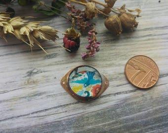 Little Doof. Copper and Resin connector. Art beads. Jewellery Making. Twinkiedinky. Bird doof.