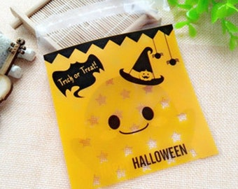 6 sachets cellophanes - Sachet halloween pour packaging
