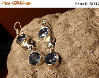 Holiday SALE 85 % OFF Tanzanite  Earrings .925 Sterling Silver Gemstone