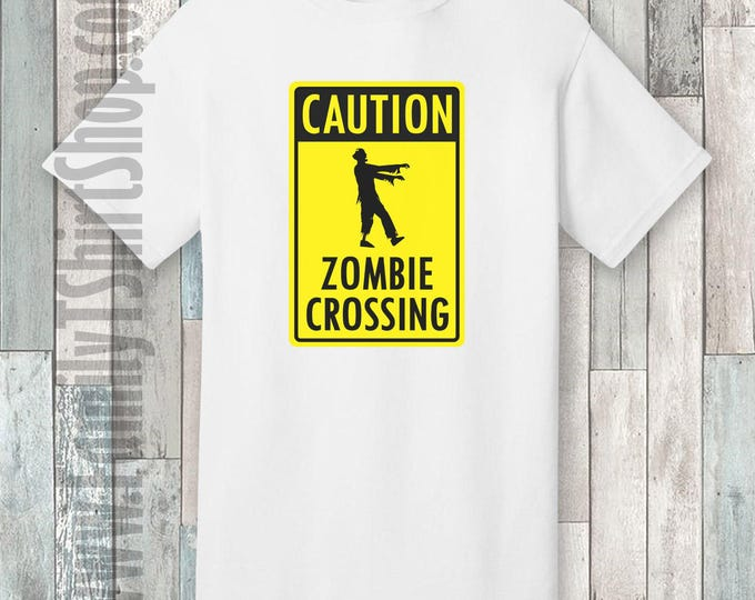 Caution Zombie Crossing T-shirt